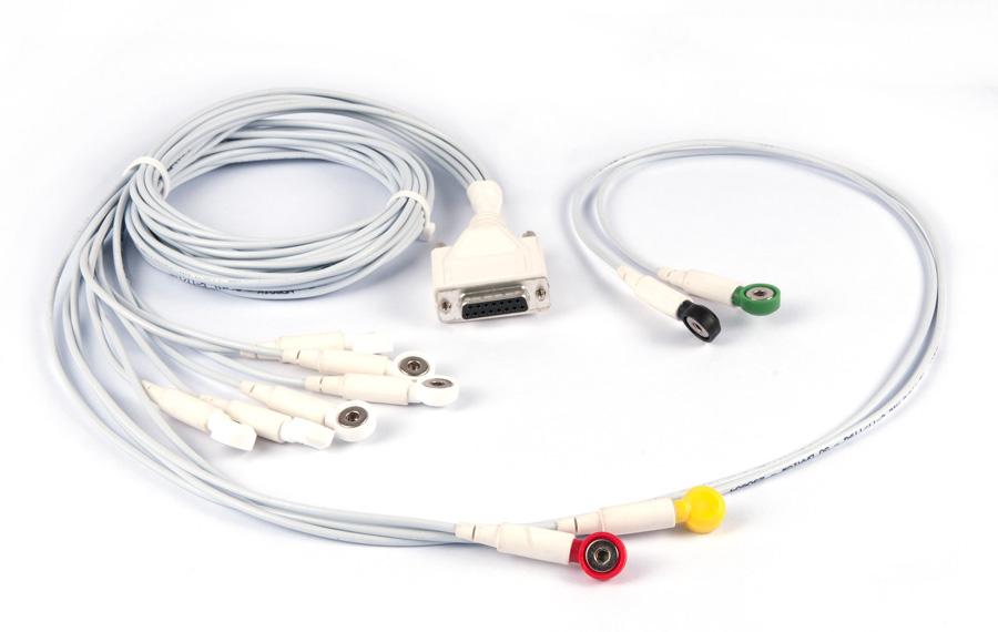 Cablagem  multicontactos c / variados comprimentos e cores  p / sondas eletromedicinais